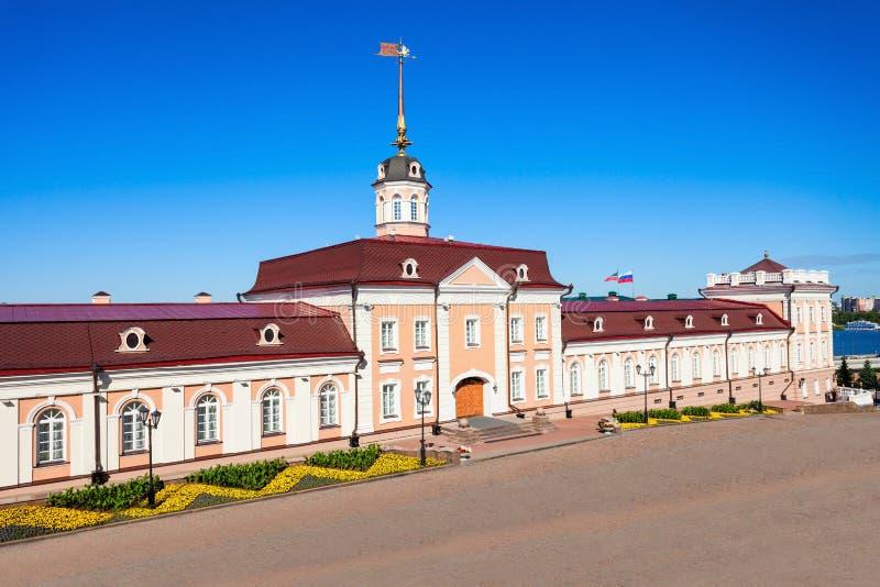 火炮法院,喀山克里姆林宫 免版税图库摄影