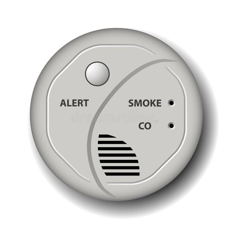 火烟一氧化碳探测器警报 向量例证