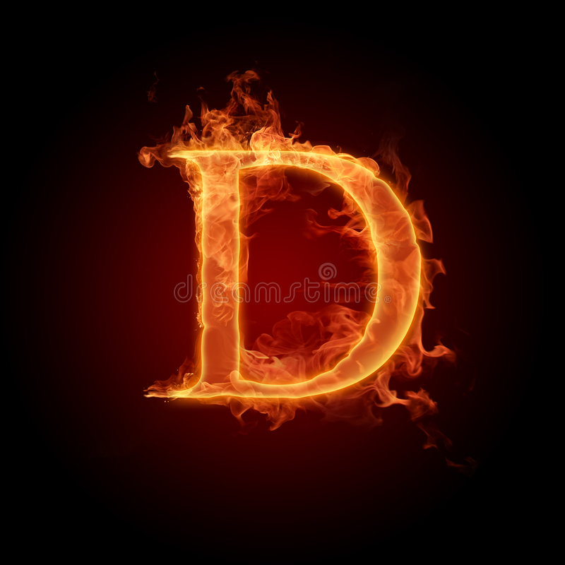 火热的字体 向量例证