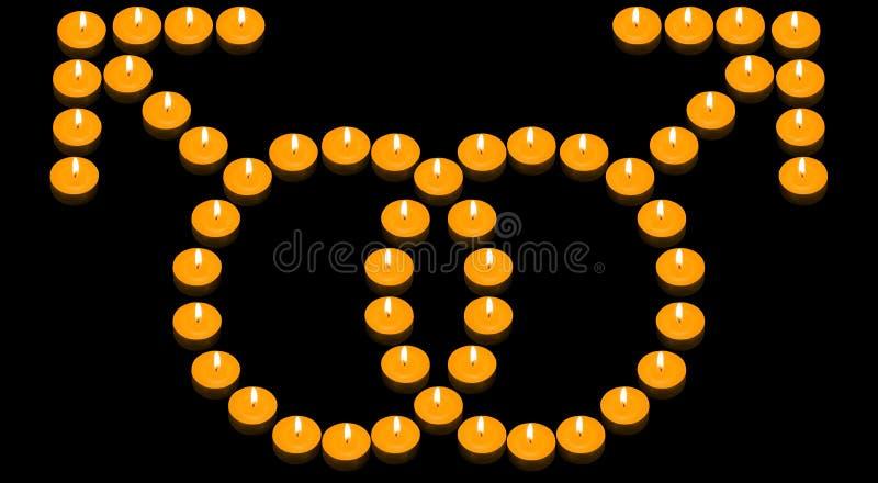 火热的快乐符号 免版税库存照片