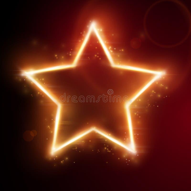火热的星形框架 皇族释放例证