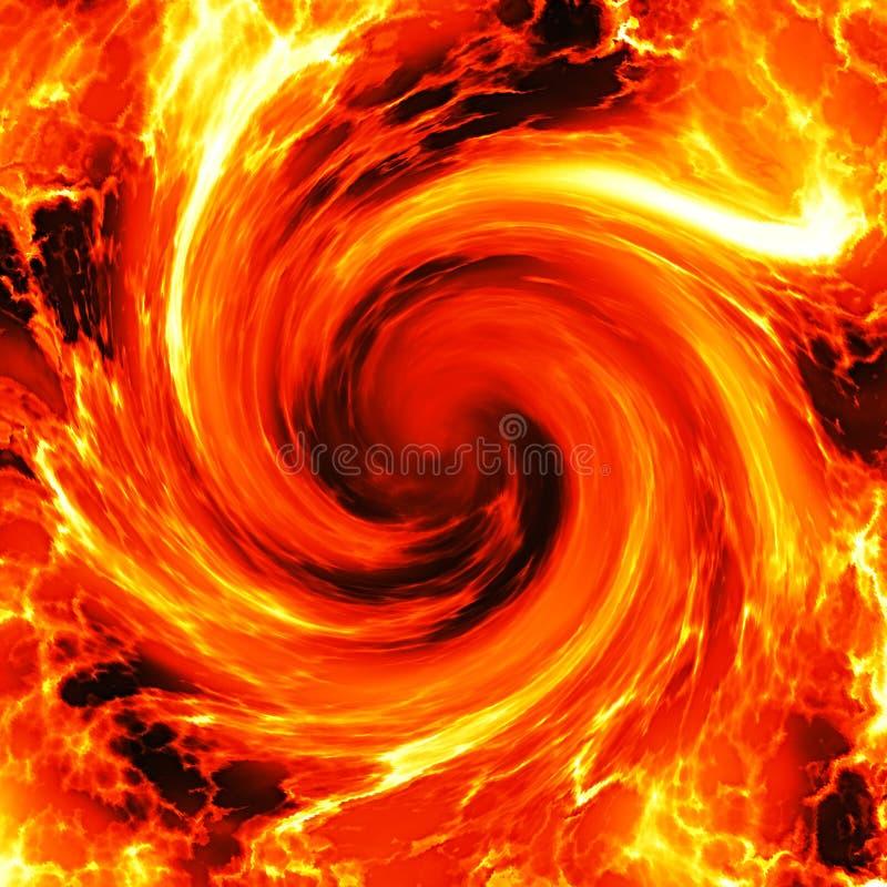 火热的漩涡 向量例证