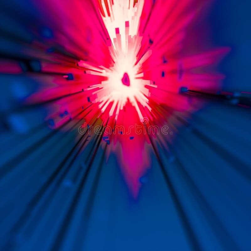 火热的爆炸或疾风概念 向量例证