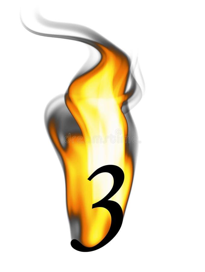 火热的第三 库存例证