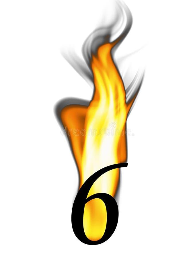 火热的第六 库存例证