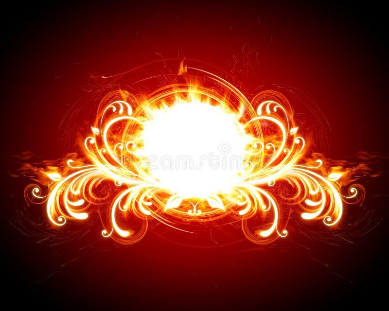 火热的花卉框架 皇族释放例证