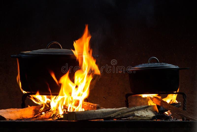 火烹调 库存图片