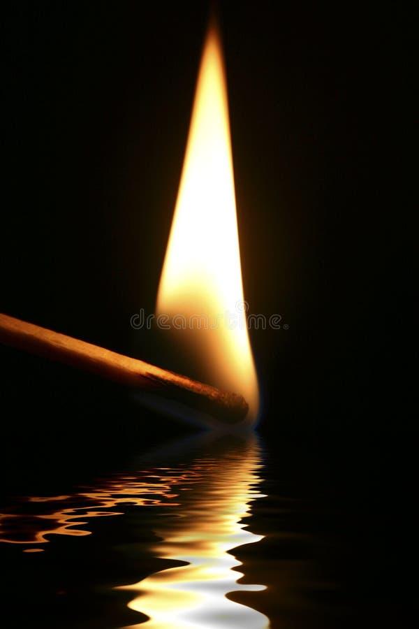 火焰反映 图库摄影
