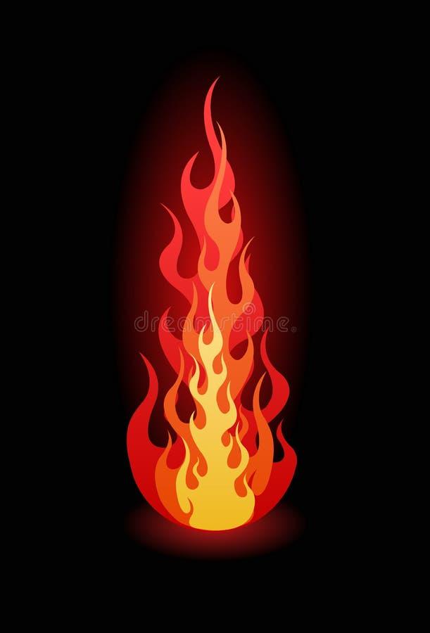 火焰向量 库存例证