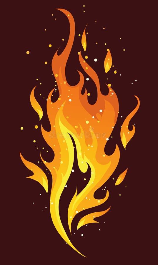 火焰和火 库存照片