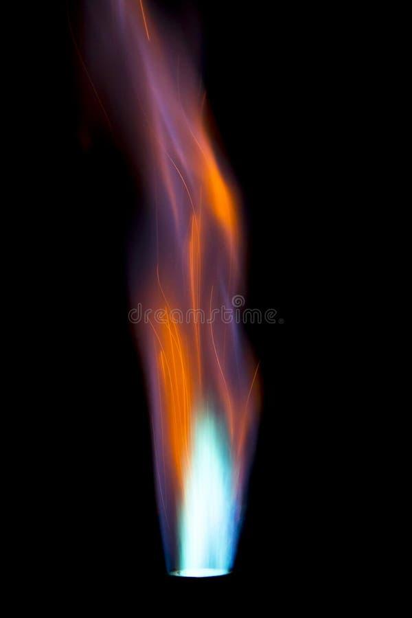 火焰唯一的气体射流 库存图片