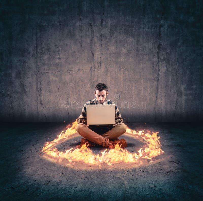 火焰圈子  免版税库存图片