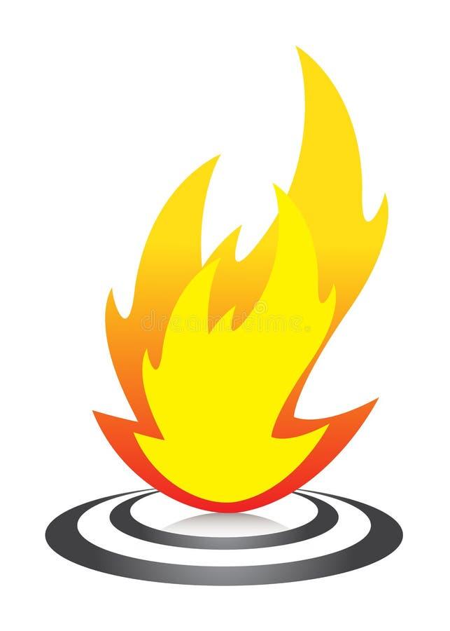 火焰徽标 向量例证