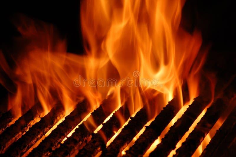 火焰格栅 免版税库存图片