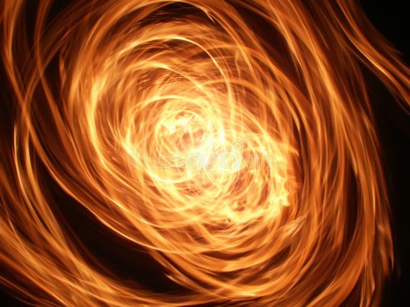火焰漩涡 库存图片