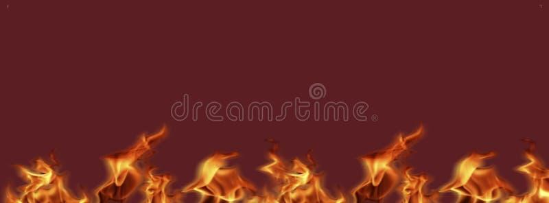火焰火横幅准备好工作,背景纹理为增加文本或图形设计 向量例证