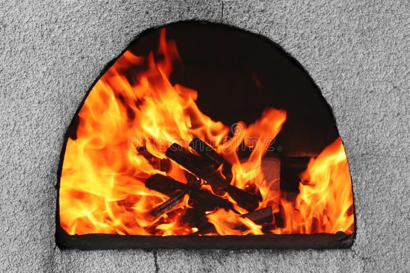 火焰火炉 免版税库存照片