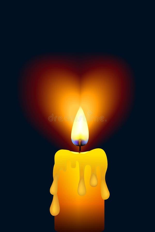 火焰灯心脏 皇族释放例证