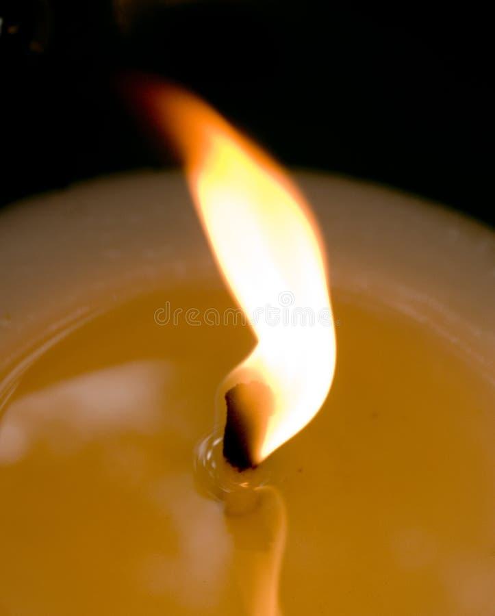 火焰状充分的灯芯 库存图片