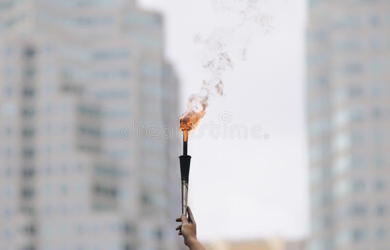 火焰状火炬 库存照片
