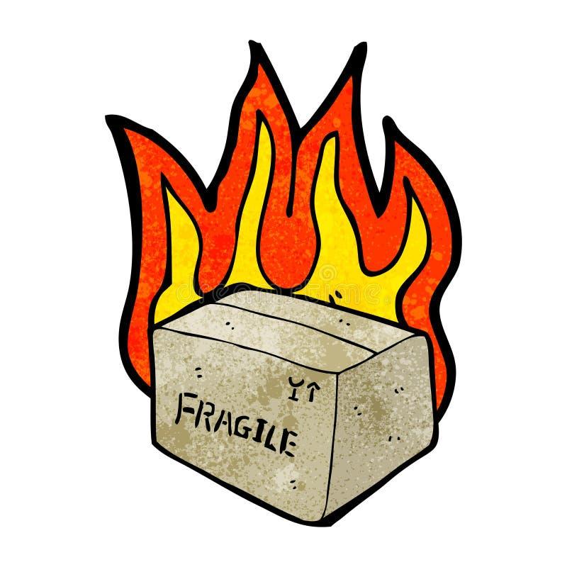 火焰状箱子动画片 皇族释放例证