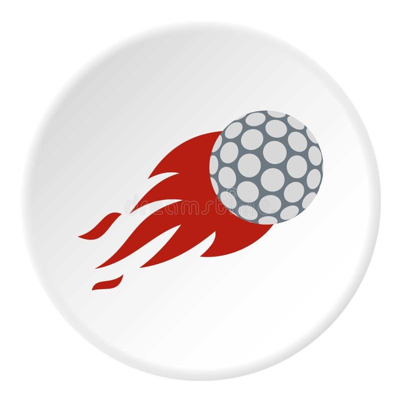 火焰状高尔夫球象圈子 向量例证