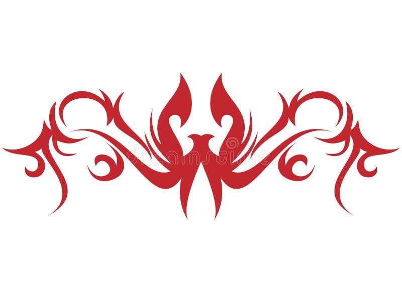 火焰纹身花刺 库存例证