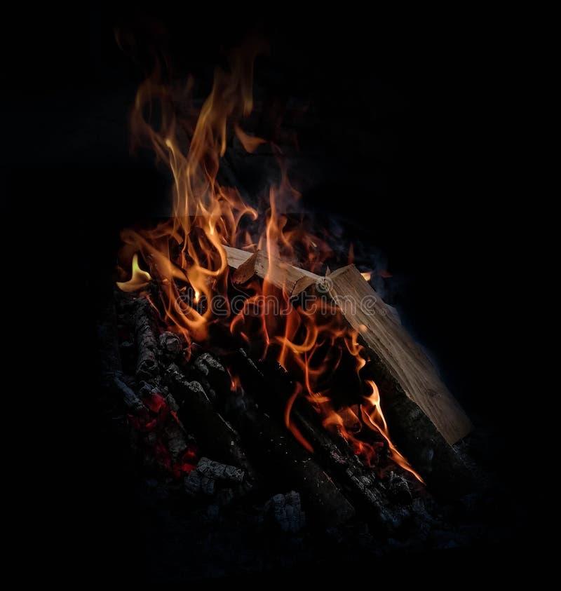火焰营火光 免版税库存图片