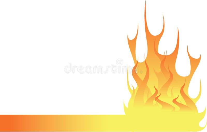 火焰页脚 免版税库存图片