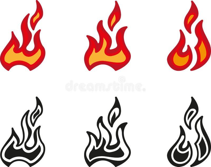 火焰 皇族释放例证