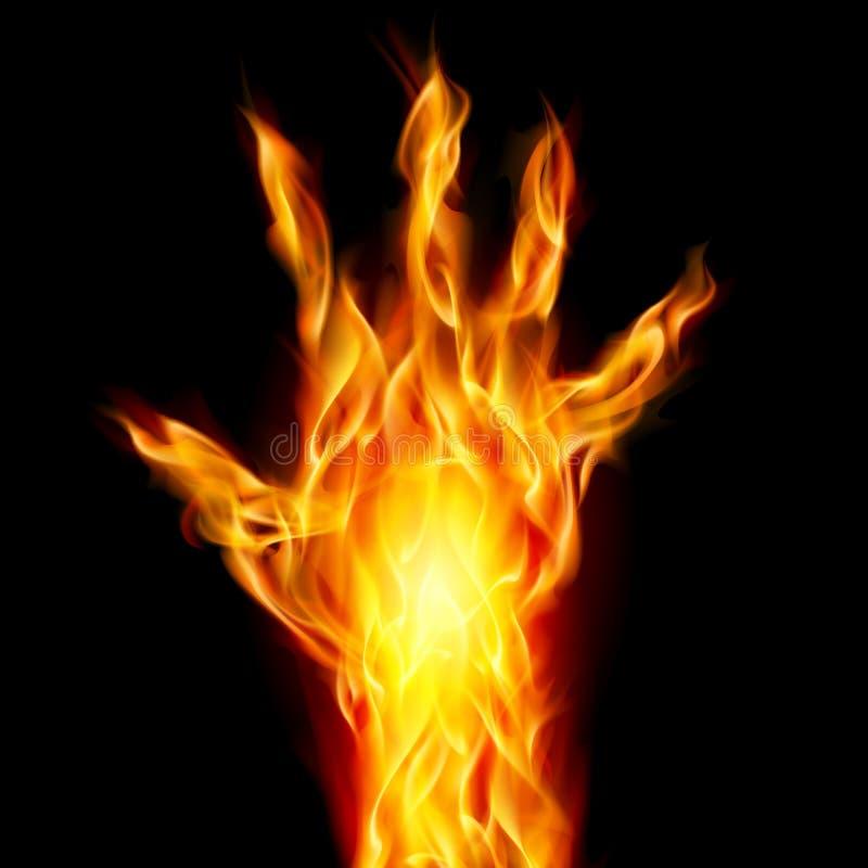 火现有量 库存例证