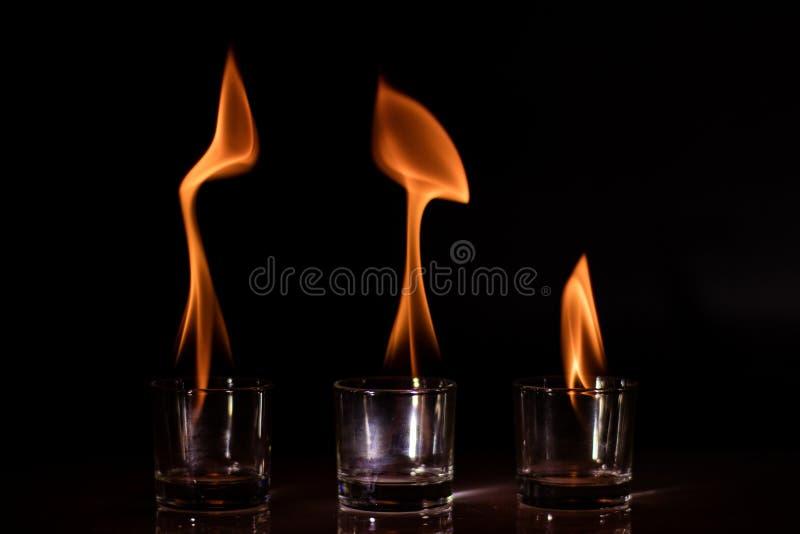 火玻璃 库存照片