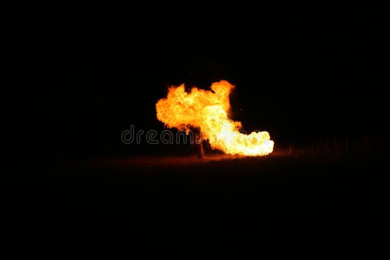 火球夜 免版税图库摄影