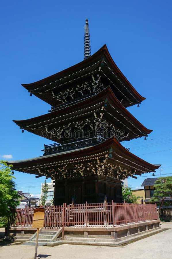 火田国分寺市寺庙在高山市,日本 免版税库存图片