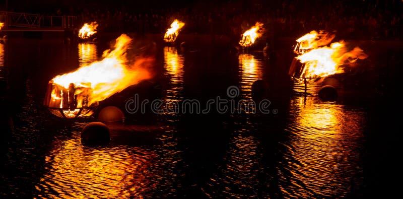 火的河 免版税库存照片