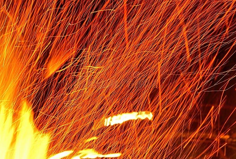 从火的火花 库存图片