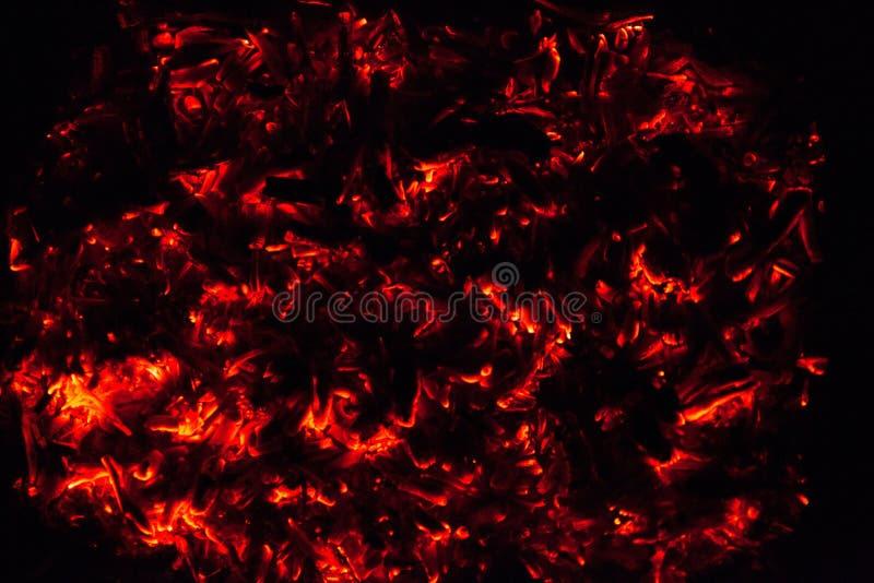 火的炭烬 免版税库存照片