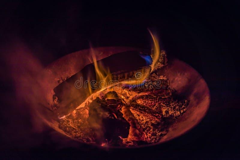 火的颜色 免版税库存照片
