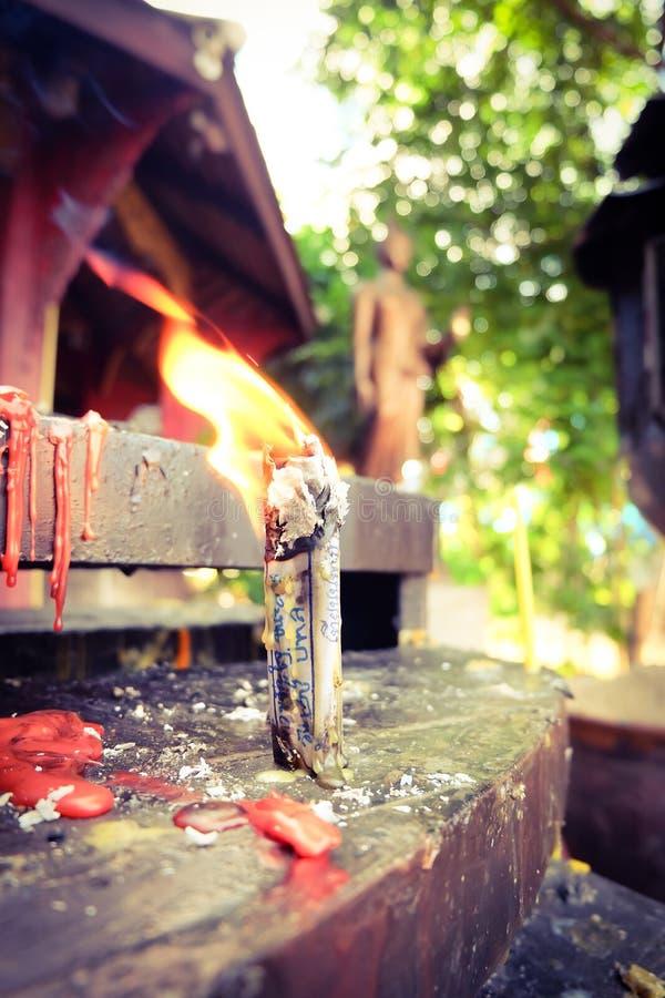 火祈祷 免版税库存图片