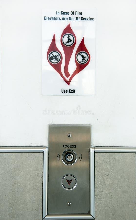 火符号警告 免版税库存图片