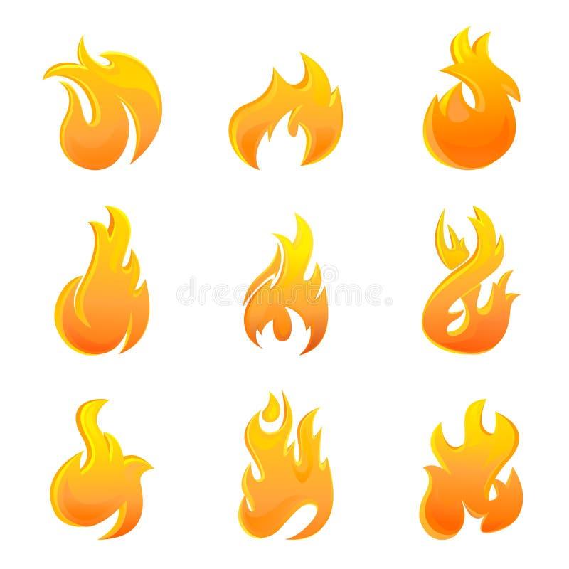 火符号 向量例证
