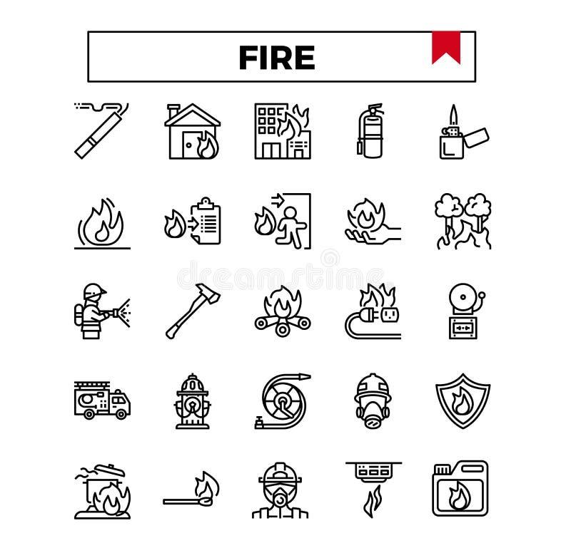 火管理概述设计象集合 库存例证