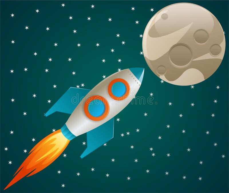 火箭空间 向量例证