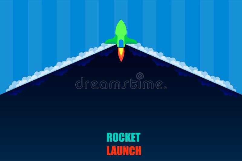 火箭队发射开放产品项目细节背景深蓝口气传染媒介例证eps10 库存例证