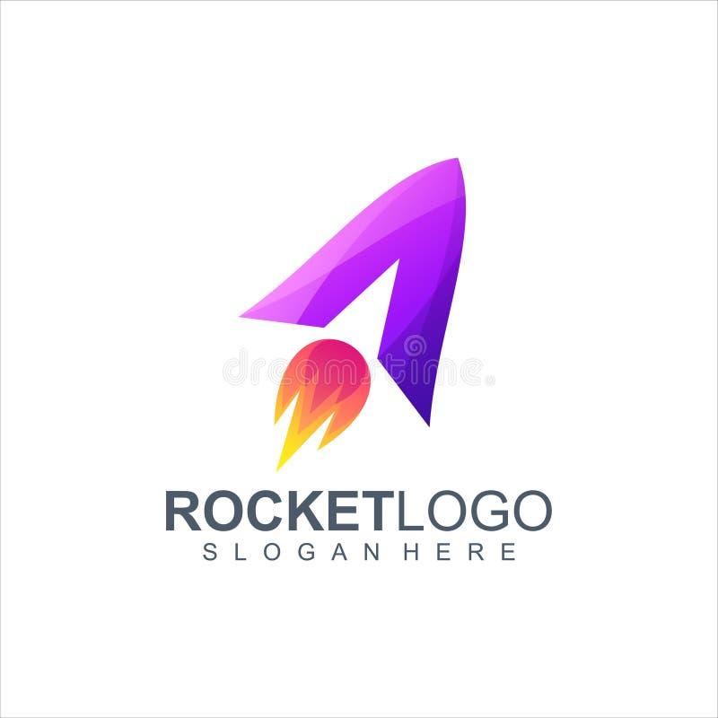 火箭队商标设计传染媒介例证 向量例证