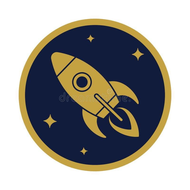 火箭队在圈子的飞行象 皇族释放例证
