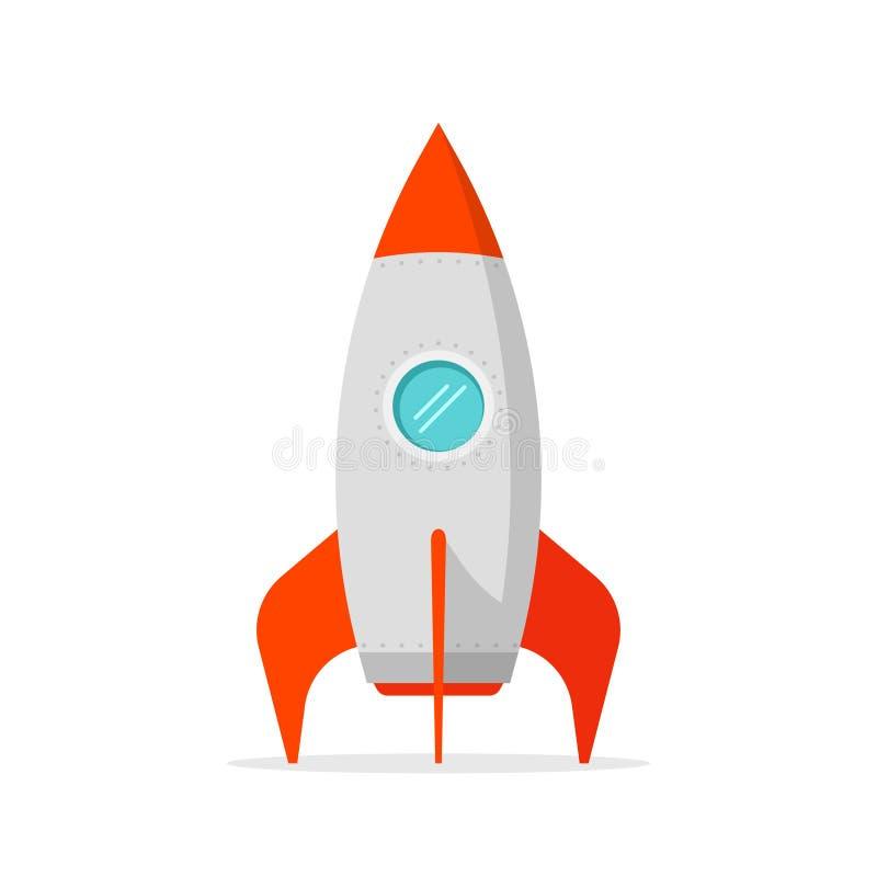 火箭队在白色背景身分的船传染媒介 向量例证