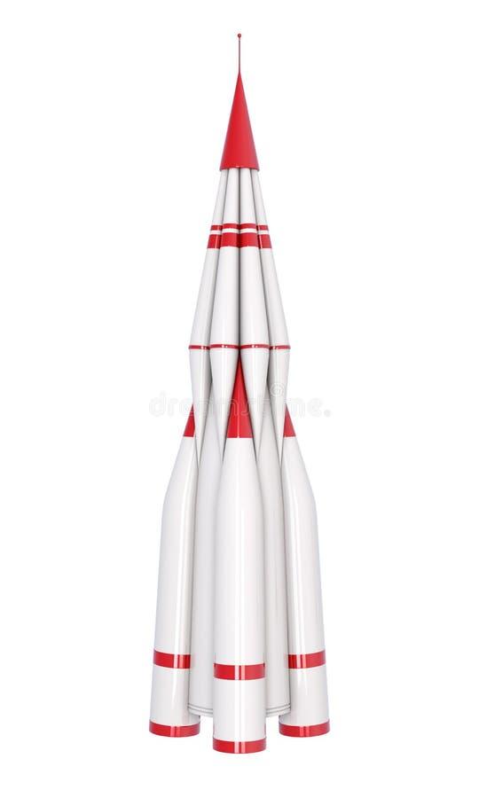 火箭队在白色背景隔绝了 3d翻译 库存例证