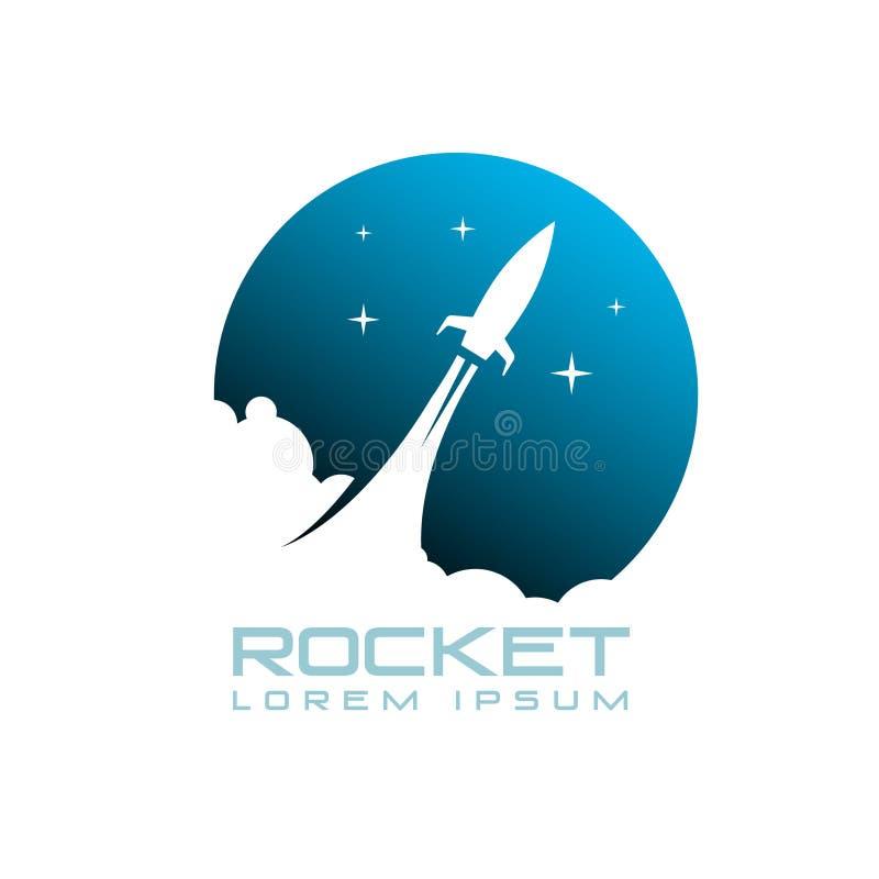 火箭队太空船象征传染媒介例证 库存照片