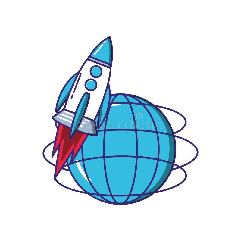 火箭队开始工作以浏览器 皇族释放例证